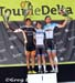 Tour de Delta White Spot Road Race: Jesse Anthony (Optum p/b Kelly Benefit Strategies) 2nd, Steve Fisher (Hagens Berman Cycling) 1st, Dominik Roels (Team HED p/b Staps) 3rd 		CREDITS:  		TITLE:  		COPYRIGHT: Copyright Greg Descantes