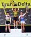 Tour de Delta Overall: Joanie Caron (Colavita-espnW Pro Cycling) 2nd, Stephanie Roorda (Local Ride/Dr. Vie Superfoods) 1st, Jenny Lehmann (Trek Red Truck Racing p/b Mosaic Homes) 3rd. 		CREDITS:  		TITLE:  		COPYRIGHT: Copyright Greg Descantes