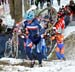 Lucie Chainel-Lefevre (France) leading on lap 1 		CREDITS:  		TITLE: 2013 Cyclo-cross World Championships 		COPYRIGHT: CANADIANCYCLIST