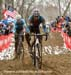 Martin Bina (Czech Republic) leading Bart Aernouts (Belgium) 		CREDITS:  		TITLE: 2013 Cyclo-cross World Championships 		COPYRIGHT: Robert Jones-Canadian Cyclist