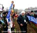 Tim Johnson greets the crowd 		CREDITS:  		TITLE: 2013 Cyclo-cross World Championships 		COPYRIGHT: CANADIANCYCLIST