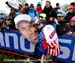 Tim Johnson signs a Tim Johnson poster 		CREDITS:  		TITLE: 2013 Cyclo-cross World Championships 		COPYRIGHT: CANADIANCYCLIST