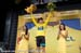 Froome on the podium 		CREDITS:  		TITLE: 2013 Tour de France 		COPYRIGHT: � Casey B. Gibson 2013