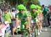 Sagan and team don wigs 		CREDITS:  		TITLE: 2013 Tour de France 		COPYRIGHT: � CanadianCyclist.com
