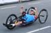 Charles Moreau competes in the Para-Cycling Road Race Men H3  		CREDITS:  		TITLE: Rio 2016 Paralympic Games 		COPYRIGHT: