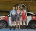 Podium: OBrien, van Riessen, Lester 		CREDITS:  		TITLE: 2016 Milton Challenge - Women Sprint 		COPYRIGHT: Rob Jones/www.canadiancyclist.com 2016 -copyright -All rights retained - no use permitted without prior; written permission
