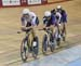 Second place men 		CREDITS:  		TITLE: 2016 National Track Championships - Master Team Pursuit 		COPYRIGHT: Rob Jones/www.canadiancyclist.com 2016 -copyright -All rights retained - no use permitted without prior; written permission