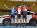 Podium: Aidan Caves, Vincent de Haitre, Bayley Simpson 		CREDITS:  		TITLE: 2016 National Track Championships - Men Kilo 		COPYRIGHT: Rob Jones/www.canadiancyclist.com 2016 -copyright -All rights retained - no use permitted without prior; written permissi