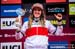 Overall World Cup winner Rachel Atherton 		CREDITS:  		TITLE: UCI MTB World Cup, Valnord, Andorra.  		COPYRIGHT: Sven Martin 2016