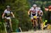Julien Absalon (BMC Mountainbike Racing Team) and Nino Schurter (Scott-Odlo MTB Racing Team) overtake Cink on lap 4  		CREDITS:  		TITLE: UCI MTB World Cup, Valnord, Andorra.  		COPYRIGHT: Sven Martin 2016
