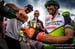 Steve Peat helps Jose Hermida (Multivan Merida Biking Team) celebrate his final career World Cup 		CREDITS:  		TITLE: UCI MTB World Cup, Valnord, Andorra.  		COPYRIGHT: Sven Martin 2016