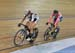 Points Race: Foreman-Mackey and Giovannetti 		CREDITS:  		TITLE: 2017 Elite Track Nationals 		COPYRIGHT: Robert Jones-Canadian Cyclist