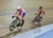 Points Race: Gibson and Beveridge 		CREDITS:  		TITLE: 2017 Elite Track Nationals 		COPYRIGHT: Robert Jones-Canadian Cyclist