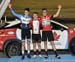 Points podium - Jackson Kinniburgh, Riley Pickrell, Daniel Nordemann-Da Silva 		CREDITS:  		TITLE: 017 Track Nationals 		COPYRIGHT: Rob Jones/www.canadiancyclist.com 2017 -copyright -All rights retained - no use permitted without prior; written permission