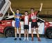 Elimination podium - James Hedgecock, Dylan Bibic, Daniel Nordemann-Da Silva 		CREDITS:  		TITLE: 017 Track Nationals 		COPYRIGHT: Rob Jones/www.canadiancyclist.com 2017 -copyright -All rights retained - no use permitted without prior; written permission