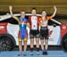 Points podium- Elizabeth Archbold, Sarah Van Dam, Victoria Slater  		CREDITS:  		TITLE: 2017 Track Nationals 		COPYRIGHT: Rob Jones/www.canadiancyclist.com 2017 -copyright -All rights retained - no use permitted without prior; written permission