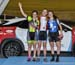 IP podium: Maggie Coles-Lyster, Erin Attwell, Laurie Jussaume 		CREDITS:  		TITLE: 2017 Track Nationals 		COPYRIGHT: Rob Jones/www.canadiancyclist.com 2017 -copyright -All rights retained - no use permitted without prior; written permission