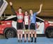 Junior Women Sprint podium: Charlotte Creswicke, Maggie Coles-Lyster, Erin J Attwell  		CREDITS:  		TITLE: 2017 Track Nationals 		COPYRIGHT: Rob Jones/www.canadiancyclist.com 2017 -copyright -All rights retained - no use permitted without prior; written p