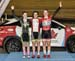 Points race podium: Micaiah Besler, Maggie Coles-Lyster, Ali Van Yzendoorn 		CREDITS:  		TITLE: 2017 Track Nationals 		COPYRIGHT: Rob Jones/www.canadiancyclist.com 2017 -copyright -All rights retained - no use permitted without prior; written permission