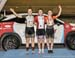 Time Trial podium -  Sarah Van Dam, Madison Dempster, Victoria Slater  		CREDITS:  		TITLE: 2017 Track Nationals 		COPYRIGHT: Rob Jones/www.canadiancyclist.com 2017 -copyright -All rights retained - no use permitted without prior; written permission