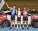 Kilo podium - Felix Pelletier , Tristan Guillemette, Je land Sydney  		CREDITS:  		TITLE: 2017 Track Nationals 		COPYRIGHT: Rob Jones/www.canadiancyclist.com 2017 -copyright -All rights retained - no use permitted without prior; written permission