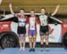 U17 Women scratch Race podium: Madison Dempster, Elizabeth Archbold, Sarah Van Dam 		CREDITS:  		TITLE: 2017 Track Nationals 		COPYRIGHT: Rob Jones/www.canadiancyclist.com 2017 -copyright -All rights retained - no use permitted without prior; written perm