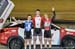 Keirin podium: Tristan Guillemette, Nick Wammes, Lucas Taylor 		CREDITS:  		TITLE: 2017 Track Nationals 		COPYRIGHT: Rob Jones/www.canadiancyclist.com 2017 -copyright -All rights retained - no use permitted without prior; written permission