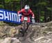 Gee Atherton (GBr) Trek Factory Racing DH 		CREDITS:  		TITLE: 2017 Mont-Sainte-Anne World Cup 		COPYRIGHT: Rob Jones/www.canadiancyclist.com 2017 -copyright -All rights retained - no use permitted without prior; written permission