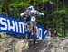 Rachel Atherton (GBr) Trek Factory Racing DH 		CREDITS:  		TITLE: 2017 Mont-Sainte-Anne World Cup 		COPYRIGHT: Rob Jones/www.canadiancyclist.com 2017 -copyright -All rights retained - no use permitted without prior; written permission