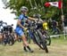 Jenny Rissveds (Swe) Scott-SRAM MTB Racing Team was involved in a crash at start 		CREDITS:  		TITLE: 2017 Mont-Sainte-Anne World Cup 		COPYRIGHT: Rob Jones/www.canadiancyclist.com 2017 -copyright -All rights retained - no use permitted without prior; wri
