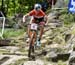 Emily Batty (Can) Trek Factory Racing XC 		CREDITS:  		TITLE: 2017 Mont-Sainte-Anne World Cup 		COPYRIGHT: Rob Jones/www.canadiancyclist.com 2017 -copyright -All rights retained - no use permitted without prior; written permission