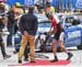 The bike change system was awkward for some riders 		CREDITS:  		TITLE: 2017 Road World Championships, Bergen, Norway 		COPYRIGHT: Rob Jones/www.canadiancyclist.com 2017 -copyright -All rights retained - no use permitted without prior; written permission