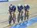 Behind by a tenth of a second with half a lap to go, the USA pulled back an incredible half a second 		CREDITS:  		TITLE: 2017 Track World Championships 		COPYRIGHT: Rob Jones/www.canadiancyclist.com 2017 -copyright -All rights retained - no use permitted