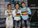 Podium: Bayona, Vogel, Degrendele 		CREDITS:  		TITLE: 2017 Track World Championships 		COPYRIGHT: Rob Jones/www.canadiancyclist.com 2017 -copyright -All rights retained - no use permitted without prior; written permission