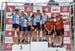 Team Relay Challenge podium: Team Cyclone dAlma, Forward Racing - Norco, AWI Racing 		CREDITS:  		TITLE: 2017 XC Championships 		COPYRIGHT: Rob Jones/www.canadiancyclist.com 2017 -copyright -All rights retained - no use permitted without prior; written pe
