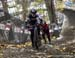 Sandra Walter came within a couple of metres of riding the climb 		CREDITS:  		TITLE: 2018 Canadian Cyclo-cross Championships 		COPYRIGHT: Rob Jones/www.canadiancyclist.com 2018 -copyright -All rights retained - no use permitted without prior, written per