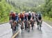 Rally sets tempo on the Megantic climb - Burke second from right 		CREDITS:  		TITLE: Tour de Beauce 		COPYRIGHT: Rob Jones/www.canadiancyclist.com 2018 -copyright -All rights retained - no use permitted without prior; written permission
