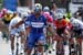 Fernando Gaviria (Team Quick-Step Floors) celebrates after winning stage one 		CREDITS:  		TITLE: 775137806CG00004_Cycling_13 		COPYRIGHT: 2018 Getty Images