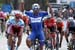 Fernando Gaviria (Team Quick-Step Floors) celebrates after winning stage one 		CREDITS:  		TITLE: 775137806CG00007_Cycling_13 		COPYRIGHT: 2018 Getty Images