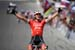 Toms Skujins (Team Trek Segafredo) celebrates after winning stage three 		CREDITS:  		TITLE: 775137810CG00147_Cycling_13 		COPYRIGHT: 2018 Getty Images