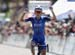 Katie Hall (UnitedHealthCare Pro Cycling Team) crosses the finish line to win Stage 2  		CREDITS:  		TITLE: 775137857ES004_Amgen_Tour_o 		COPYRIGHT: 2018 Getty Images