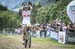 Maja Wloszczowska (Kross Racing Team) winning 		CREDITS:  		TITLE: UCI Mountain Bike XCO World Cup in Val di Sole 		COPYRIGHT: EGO-Promotion