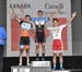 Stage 1 podium:  Eduardo Cruz De La Mora, Riley Pickrell, Taisei Hino  		CREDITS:  		TITLE: 2018 Tour de L Abitibi 		COPYRIGHT: Rob Jones/www.canadiancyclist.com 2018 -copyright -All rights retained - no use permitted without prior; written permission