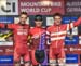 Podium:  Antoine Philipp, Joshua Dubau, Jonas Lindberg  		CREDITS:  		TITLE: 2018 UCI World Cup Albstadt - U23 Men 		COPYRIGHT: Rob Jones/www.canadiancyclist.com 2018 -copyright -All rights retained - no use permitted without prior; written permission
