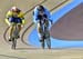 Lauriane Genest vs Liubov Basova (Ukraine) 		CREDITS:  		TITLE: Tissot Track Cycling World Cup 2018, Round 3 		COPYRIGHT: Guy Swarbrick all rights retained