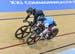Lauriane Genest vs Natasha Hansen in SemiFinal 		CREDITS:  		TITLE: Commonwealth Games, Gold Coast 2018 		COPYRIGHT: Rob Jones/www.canadiancyclist.com 2018 -copyright -All rights retained - no use permitted without prior; written permission