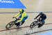 Stephanie Morton (Australia) vs Natasha Hansen (New Zealand) in Gold medal ride 		CREDITS:  		TITLE: Commonwealth Games, Gold Coast 2018 		COPYRIGHT: Rob Jones/www.canadiancyclist.com 2018 -copyright -All rights retained - no use permitted without prior;
