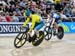 Kaarle McCulloch (Australia) vs Lauriane Genest (Canada) in Bronze medal ride 		CREDITS:  		TITLE: Commonwealth Games, Gold Coast 2018 		COPYRIGHT: Rob Jones/www.canadiancyclist.com 2018 -copyright -All rights retained - no use permitted without prior; wr