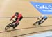1-8 Final, Hugo Barrette vs Lewis Oliva (Wales) 		CREDITS:  		TITLE: Commonwealth Games, Gold Coast 2018 		COPYRIGHT: Rob Jones/www.canadiancyclist.com 2018 -copyright -All rights retained - no use permitted without prior; written permission