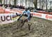 Things begin to go sideways 		CREDITS:  		TITLE: 2018 Cyclo-cross World Championships, Valkenburg NED 		COPYRIGHT: Rob Jones/www.canadiancyclist.com 2018 -copyright -All rights retained - no use permitted without prior; written permission